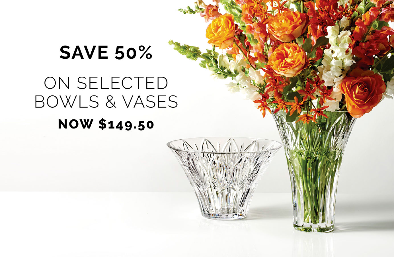 Save 50% on vases and bowls 19th March bottom right