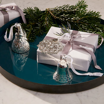 2019 Silver Bell  Ornament