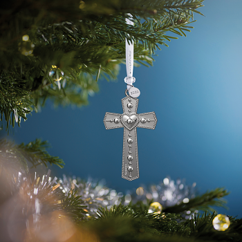 Cross Silver Ornament 2020