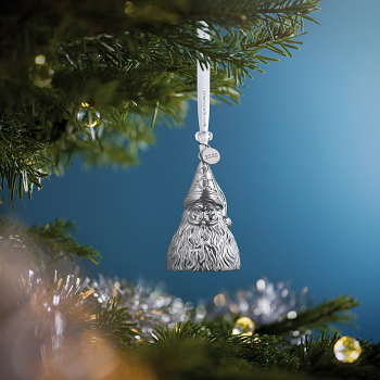 Father Christmas Silver Ornament 2020
