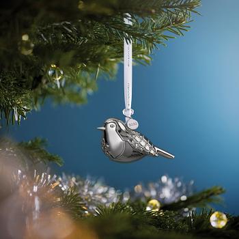Robin Silver Ornament 2020