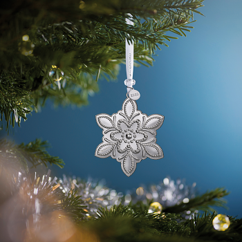 Snowflake Silver Ornament 2020