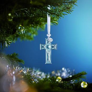 Mini Cross Crystal Ornament 2020