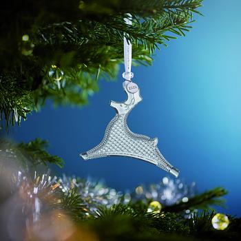 Reindeer Crystal Ornament 2020