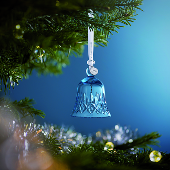 Topaz Frost Bell Crystal Ornament 2020