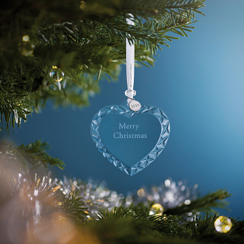 Topaz Frost Heart Crystal Ornament 2020