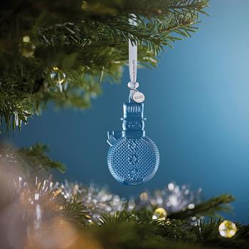 Topaz Ice Snowman Crystal Ornament 2020