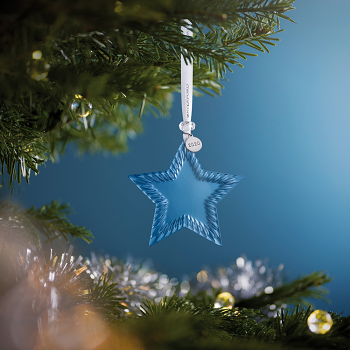 Topaz Ice Star Crystal Ornament 2020