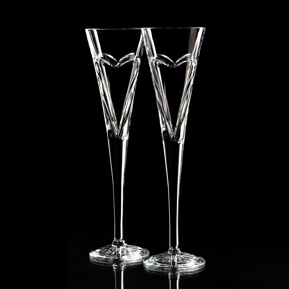 Waterford Crystal Celebration Flutes Love Flute Pair