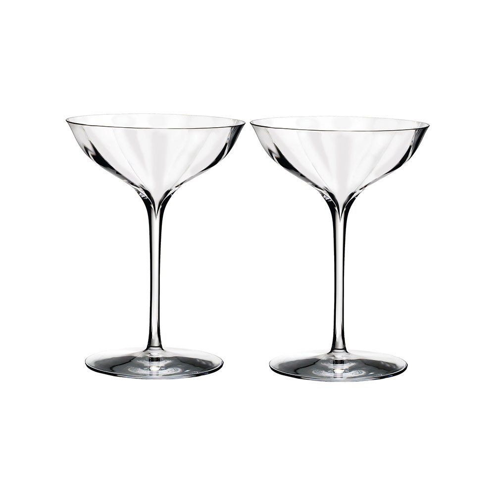 Waterford crystal elegance optic champagne belle coupe pair waterford crystal - Waterford champagne coupe ...