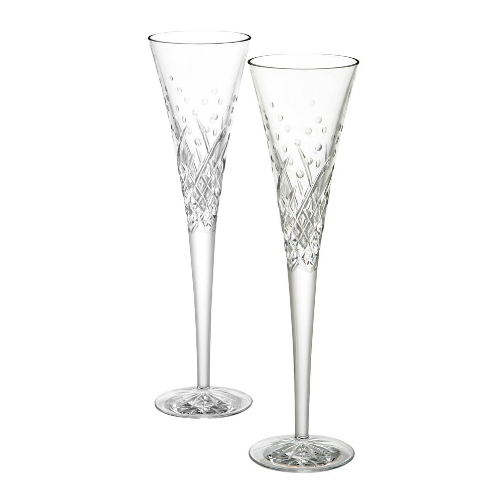waterford crystal celebration flutes happy flute pair. Black Bedroom Furniture Sets. Home Design Ideas