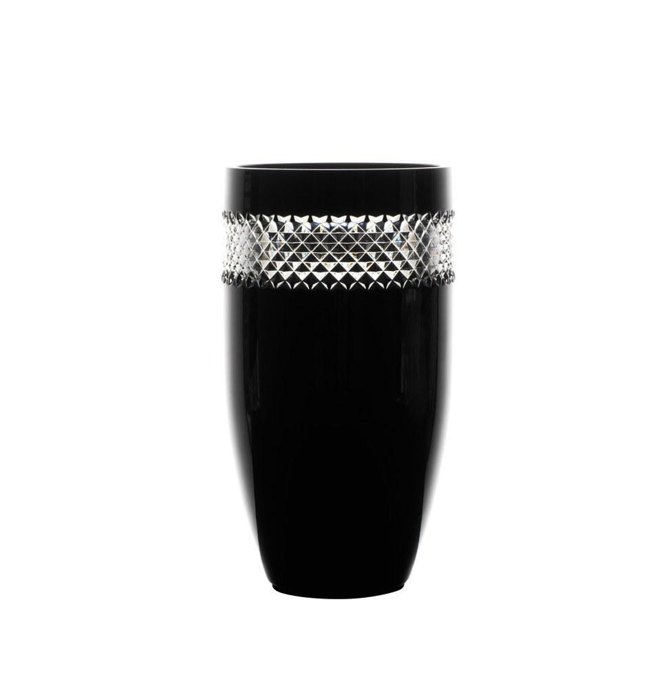 John Rocha By Waterford Crystal Black Cut Vase 30cm