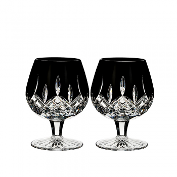 Lismore Black Brandy Pair