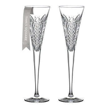 Times Square Flute Set of 2 Clear Wisdom