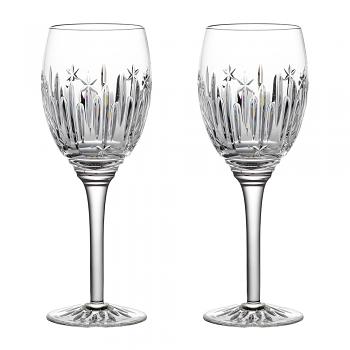 Winter Wonder Wine Glass Clear Midnight Frost Set of 2