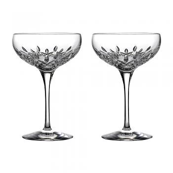Lismore Essence Champagne Saucer Pair