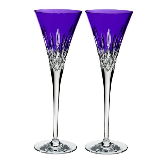 Lismore Pops Purple Flute Pair