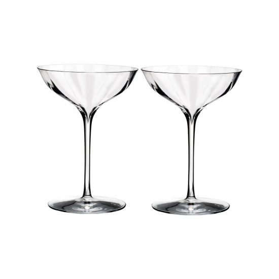 Waterford Crystal Elegance Optic Champagne Belle Coupe Pair