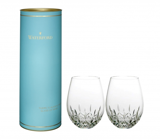 Giftology Lismore Essence Stemless Red Wine Pair