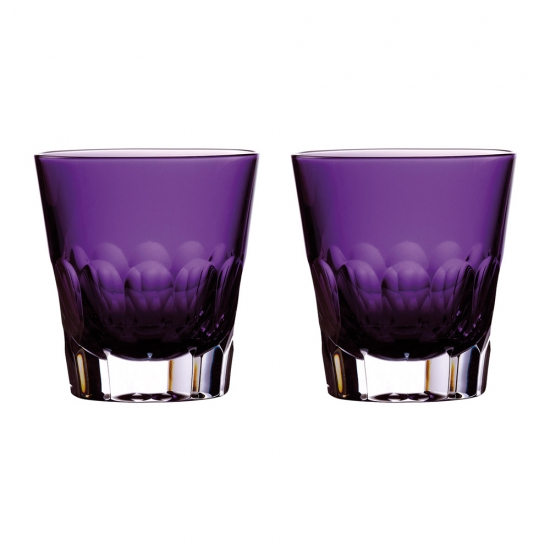 Jeff Leatham Icon Amethyst Double Old Fashioned Tumbler Pair