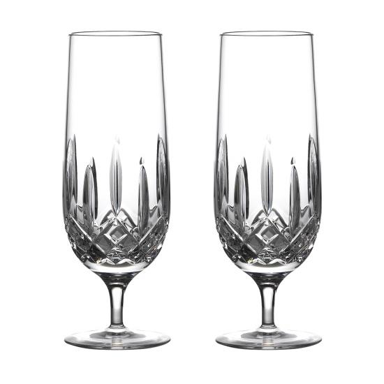 Lismore Nouveau Hurricane Glass Pair